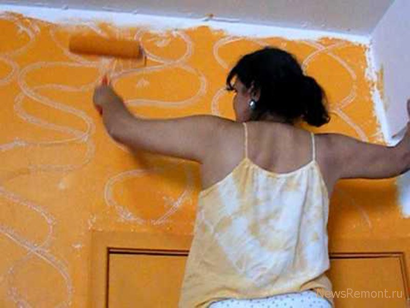 Самостоятельно покраска стен