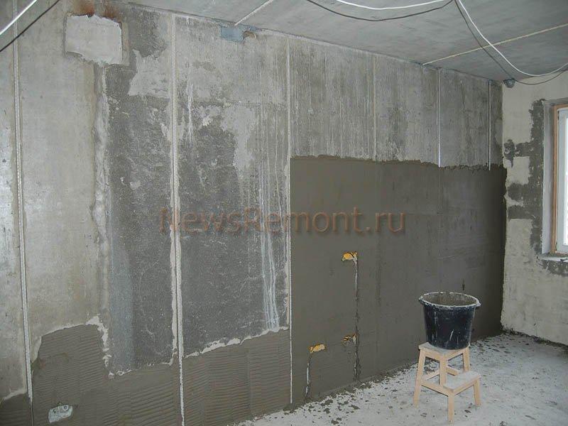 Технология штукатурки стен по маякам цементным раствором стол барселона бетон