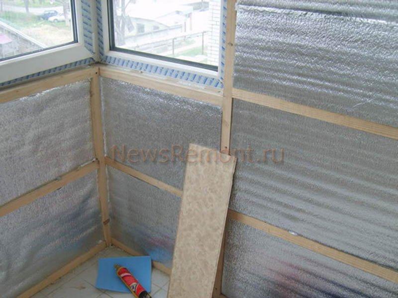 Как своими руками утеплить балкон: утепление внутри и снаруж.