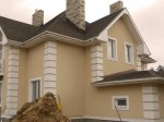 Покраска фасада загородного дома
