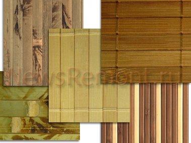 Обои из бамбука и тростника