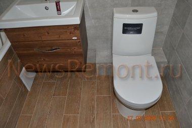 Серый и бежевые тона в интерьере ванной комнаты